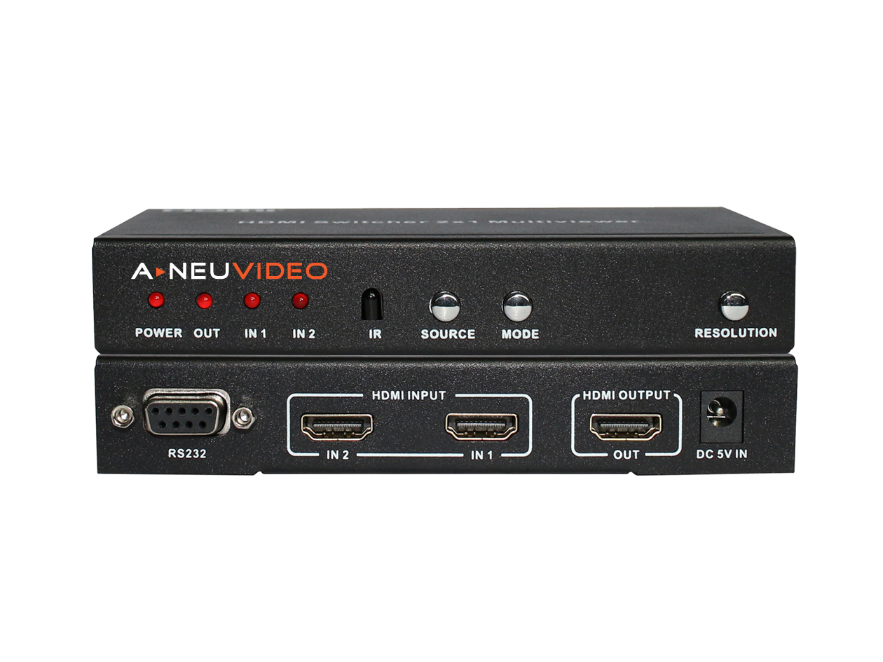 ANI-PIP-LITE: 2x1 HDMI MULTI-VIEWER w/ PIP